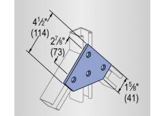 4-hole flat corner plate
