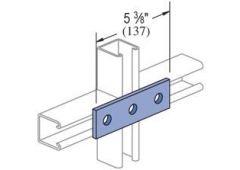3-hole splice plate - Zinc