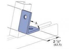 2 hole 45deg angle HDG
