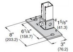 2-hole low flush mount post