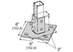 4-Hole Angle Post Base HDG