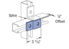 2-hole offset splice plate GRN