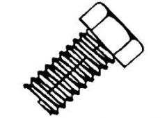 10-24x1 hex machine screw