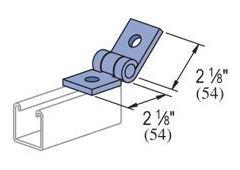 2-hole hinge  -Zinc