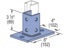 2-Hole Post Base  zinc