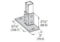 2-Hole Flush Post Base Grn