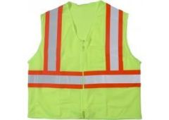 Lime Vest w/Orange Stripe L