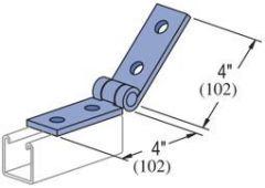 4-hole hinge  -Zinc